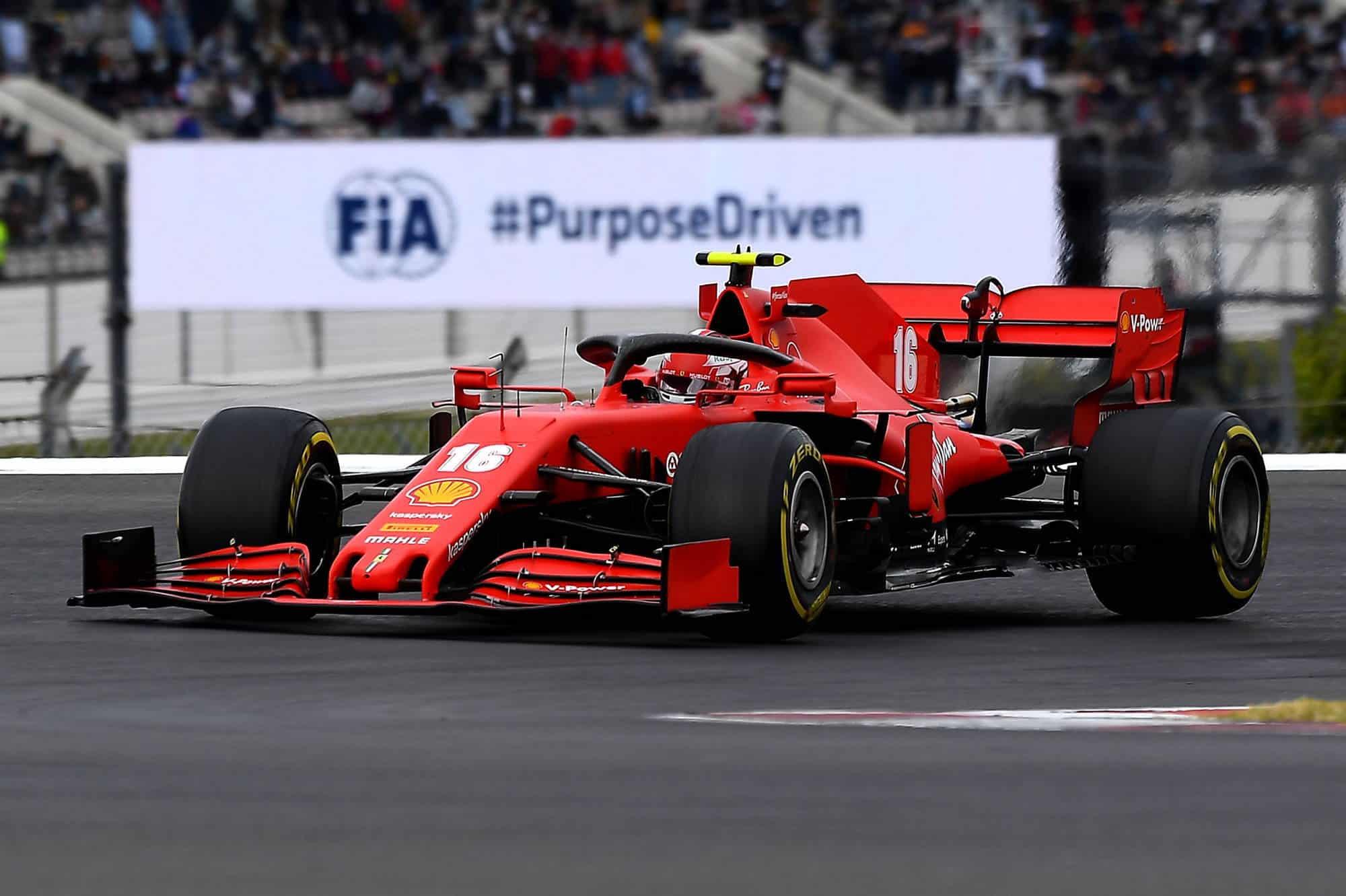 2020 Portugal GP Leclerc Ferrari medium Pirelli Photo Ferrari