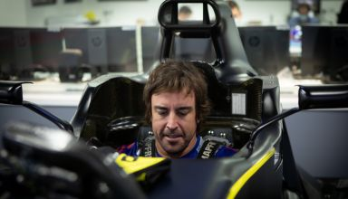 Alonso Renault 2020 F1 seat fitting Photo Alonso Twitter Renault