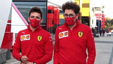 2020 Emilia Romagna GP Leclerc Binotto Photo Ferrari