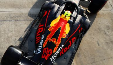 2020 Emilia Romagna Imola Albon Red Bull RB16 top view engine cover pitlane FP1 Photo Red Bull Edited by MAXF1net
