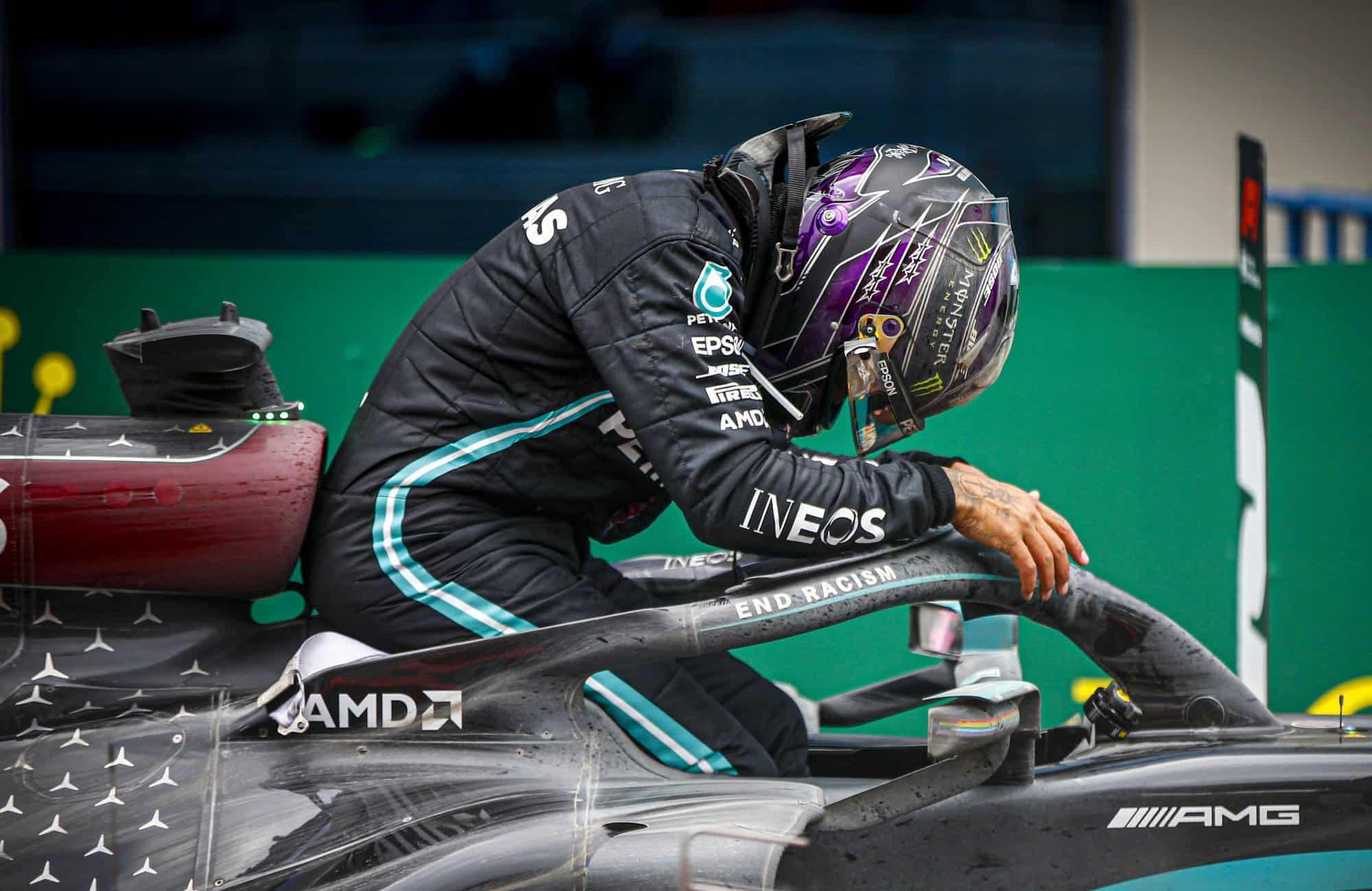 2020 Turkish GP Hamilton after the race 7th title Photo Daimler