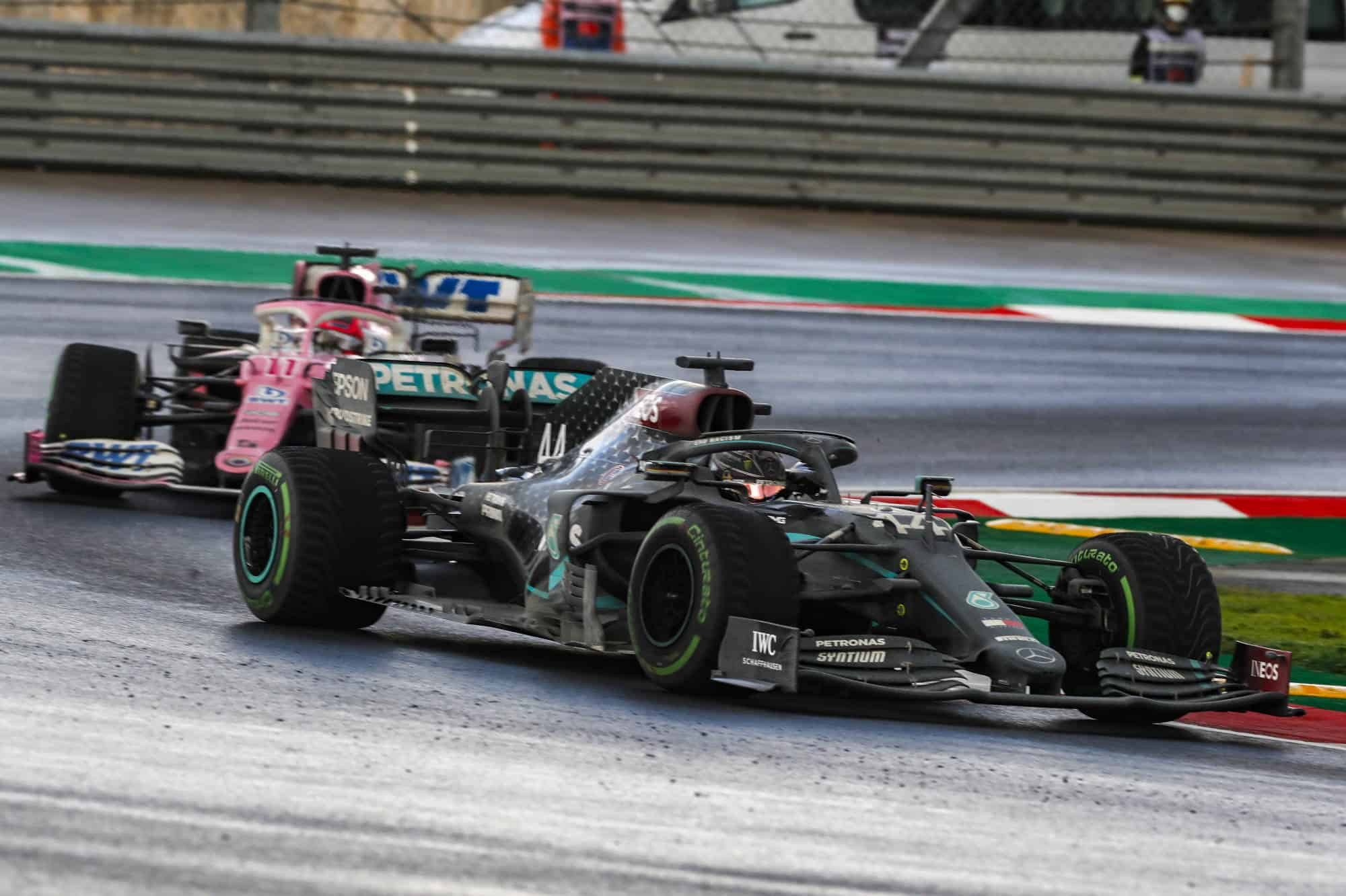 2020 Turkish GP Hamilton leads Perez Photo Mercedes AMG Twitter Daimler