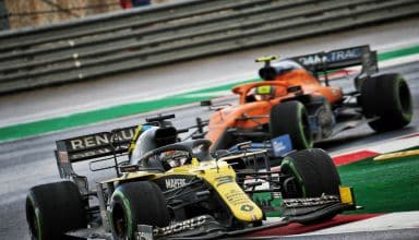 2020 Turkish GP Ricciardo leads Norris Photo Renault
