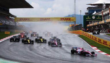 2020 Turkish GP Stroll leads Perez Photo F1-com Racing Point