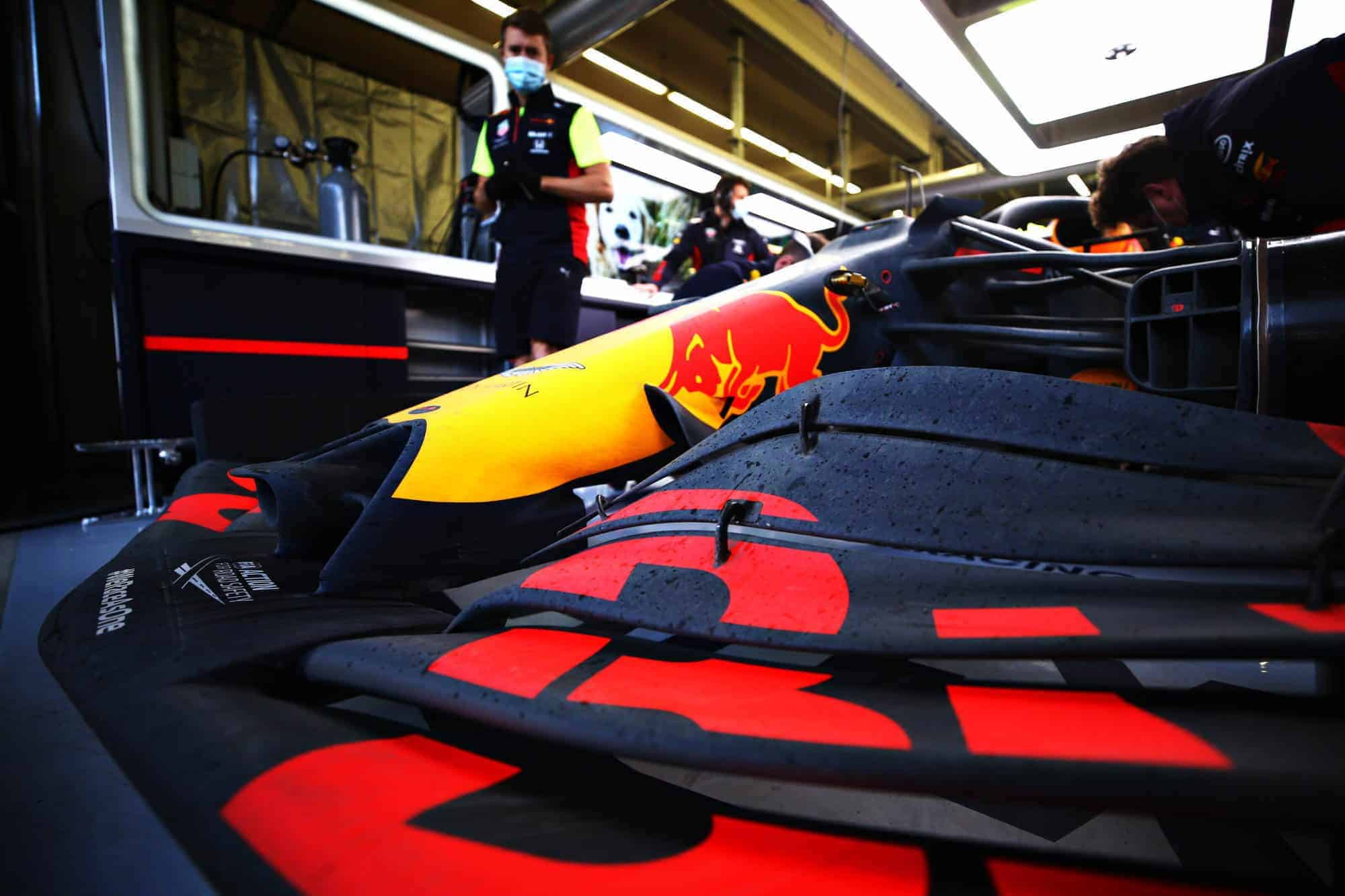 2020 Turkish GP Verstappen Red Bull RB16 front wing zoom pits Photo Red Bull