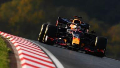 2020 Turkish GP Verstappen Red Bull RB16 medium Pirelli FP2 Photo Red Bull