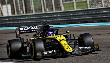 2020 Abu Dhabi GP Alonso Renault RS20 post season young driver test Photo Renault