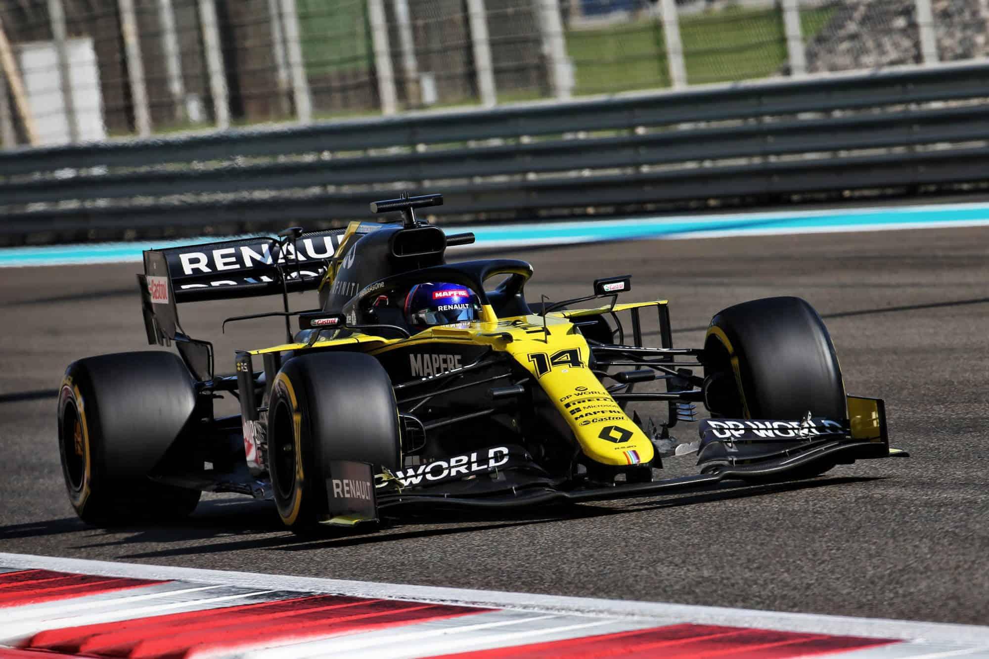 2020 Abu Dhabi GP Alonso Renault RS20 post season young driver test Photo Renault
