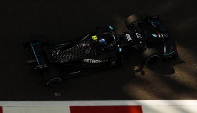 2020 Abu Dhabi GP Bottas Mercedes pit exit Photo Mercedes AMG Twitter Daimler