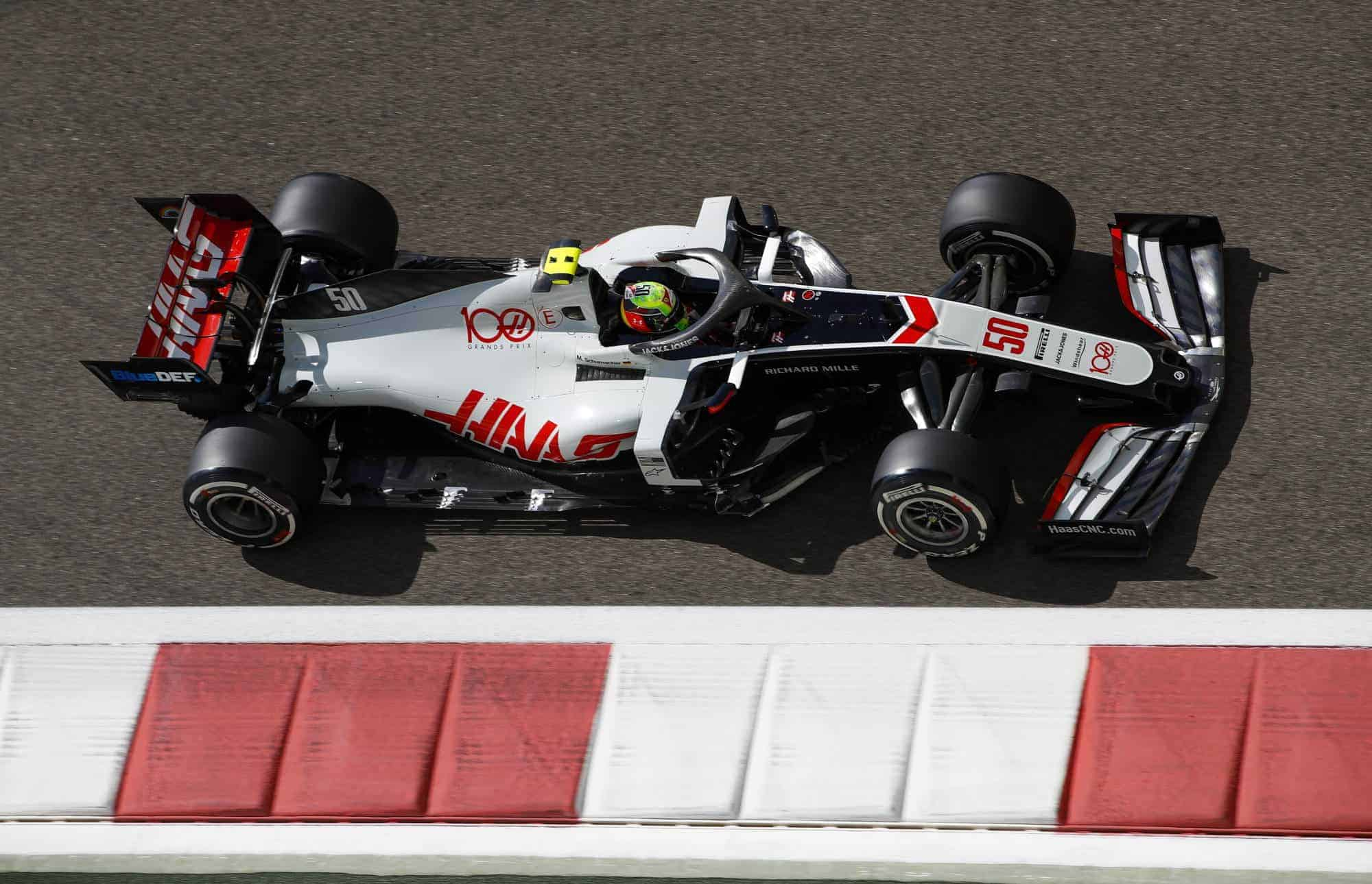 2020 Abu Dhabi GP Mick Schumacher Haas F1 team Friday on track hard Pirelli Photo Haas F1 Team