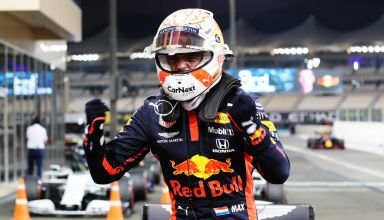 2020 Abu Dhabi GP Verstappen Red Bull after qualifying pole position Photo Red Bull