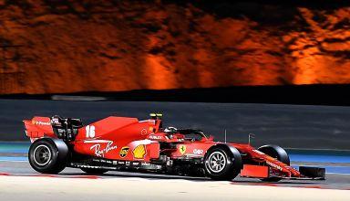 2020 Bahrain GP Leclerc Ferrari side view Photo Ferrari