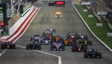 2020 Bahrain GP start Photo Daimler