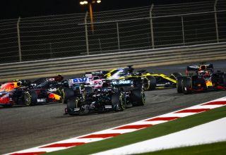 2020 Bahrain GP start first corners Photo Daimler