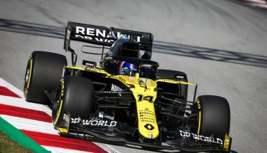 2020 Barcelona filming Day Alonso drives Renault RS20 Photo Renault