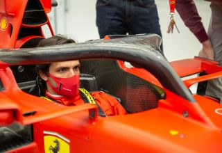 Carlos Sainz first day at Ferrari in the car Photo Ferrari