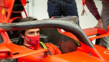 Carlos Sainz first day at Ferrari in the car Photo Ferrari