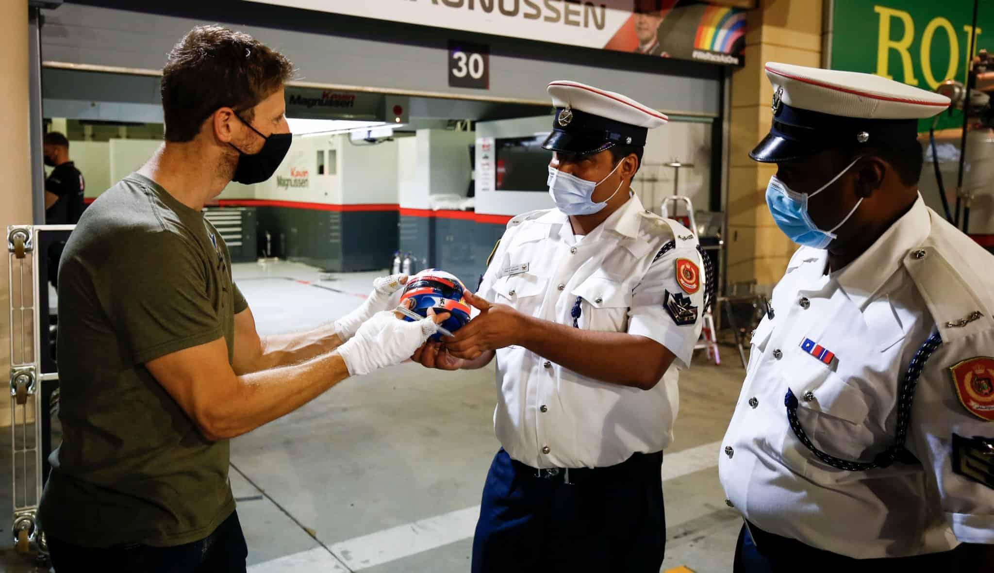 Grosjean thanks firefighters for saving his life Bahrain GP F1 2020 Photo Haas F1 Team