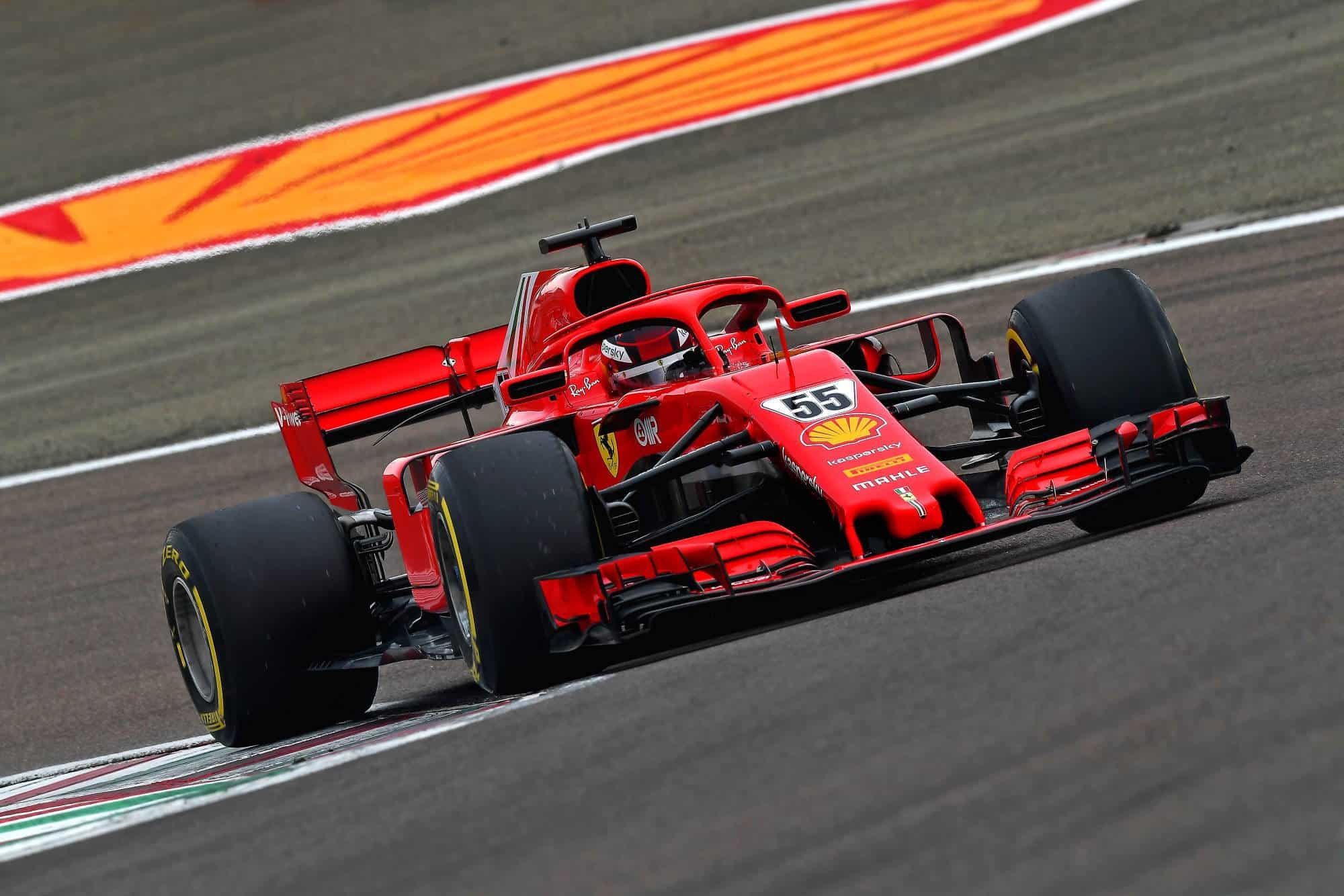 2021 Fiorano Carlos Sainz first Ferrari test on track Fiorano Ferrari SF71H 2018 on Wed 27 Jan 2021 Photo Ferrari