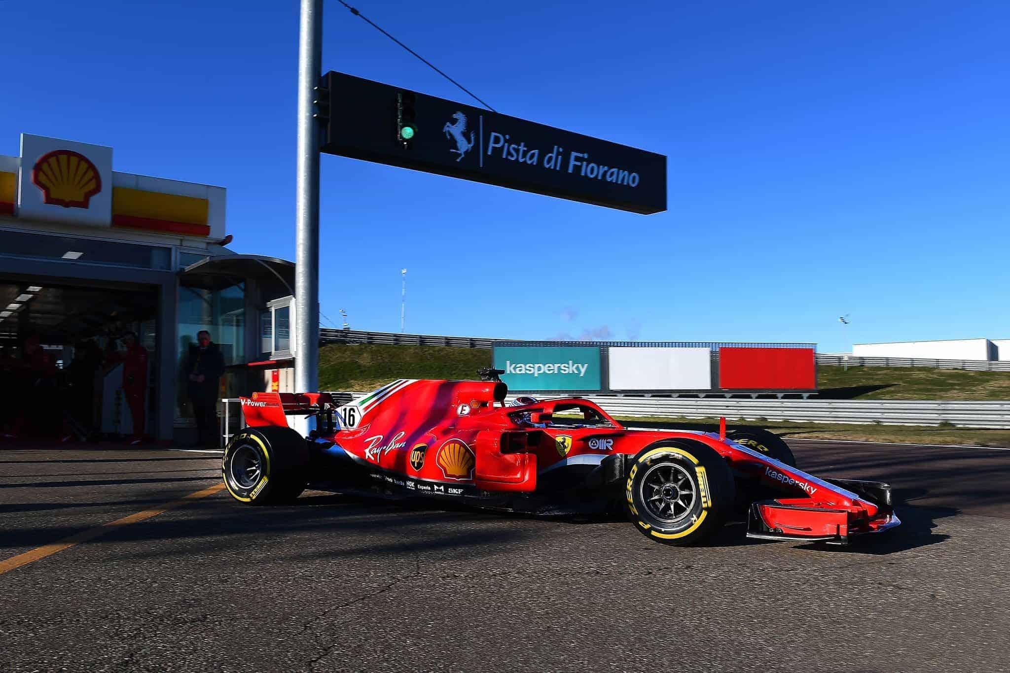 2021 Fiorano F1 test Charles Leclerc SF71H F1 2018 test 26 January 2021 Photo Ferrari