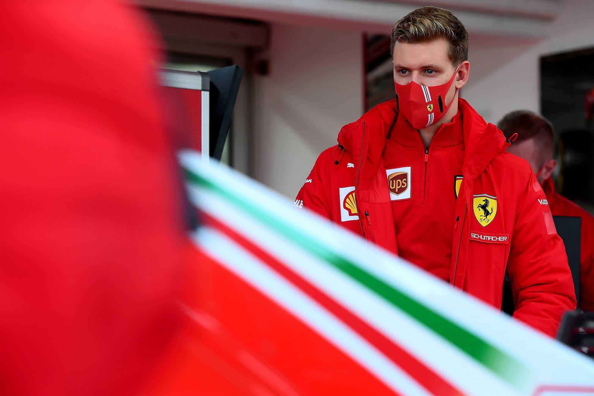 2021 Fiorano Mick Schumacher in pits Fiorano Ferrari SF71H 2018 on Thu 28 Jan 2021 Photo Ferrari