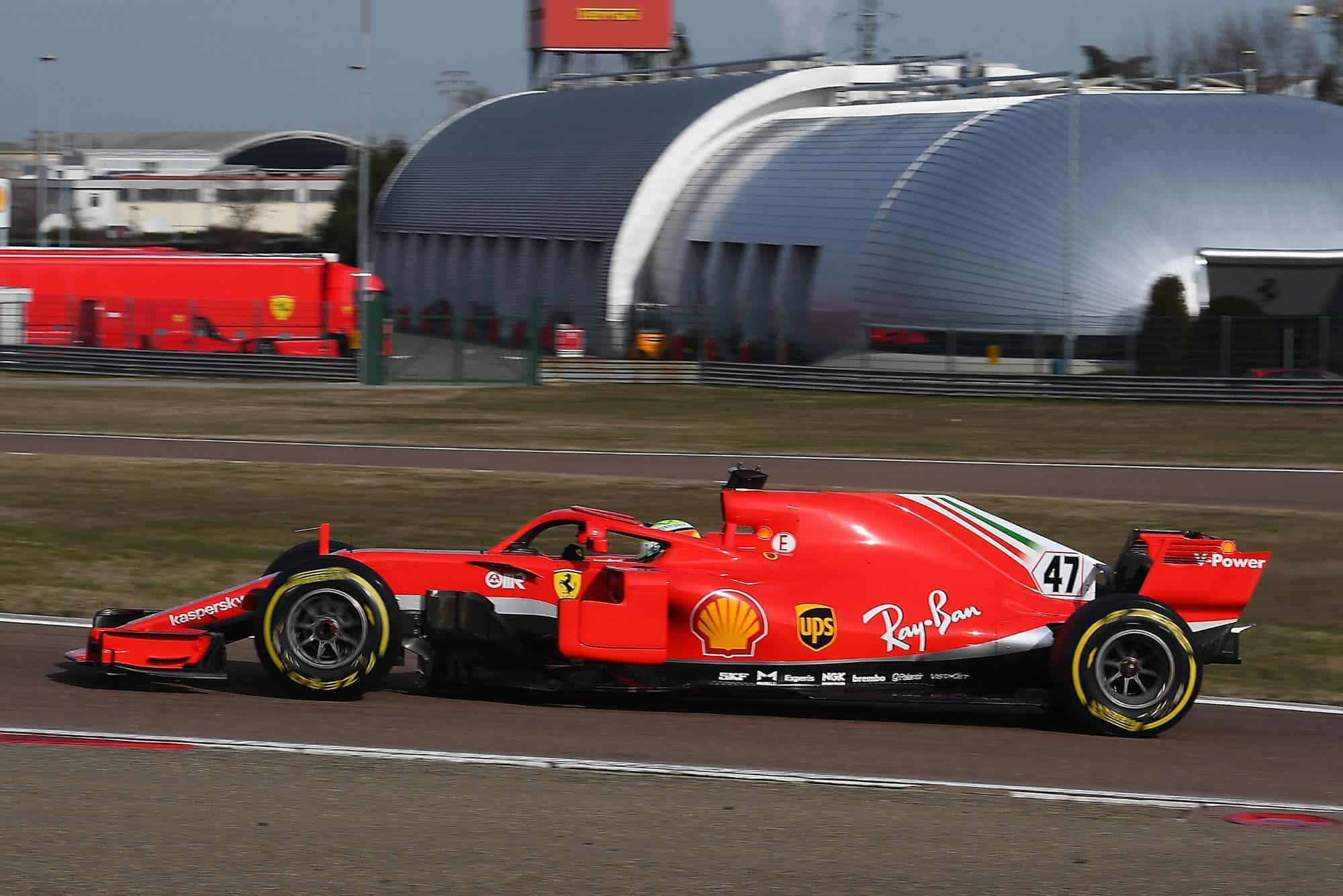 2021 Fiorano Mick Schumacher on track side view Fiorano Ferrari SF71H 2018 on Thu 28 Jan 2021 Photo Ferrari