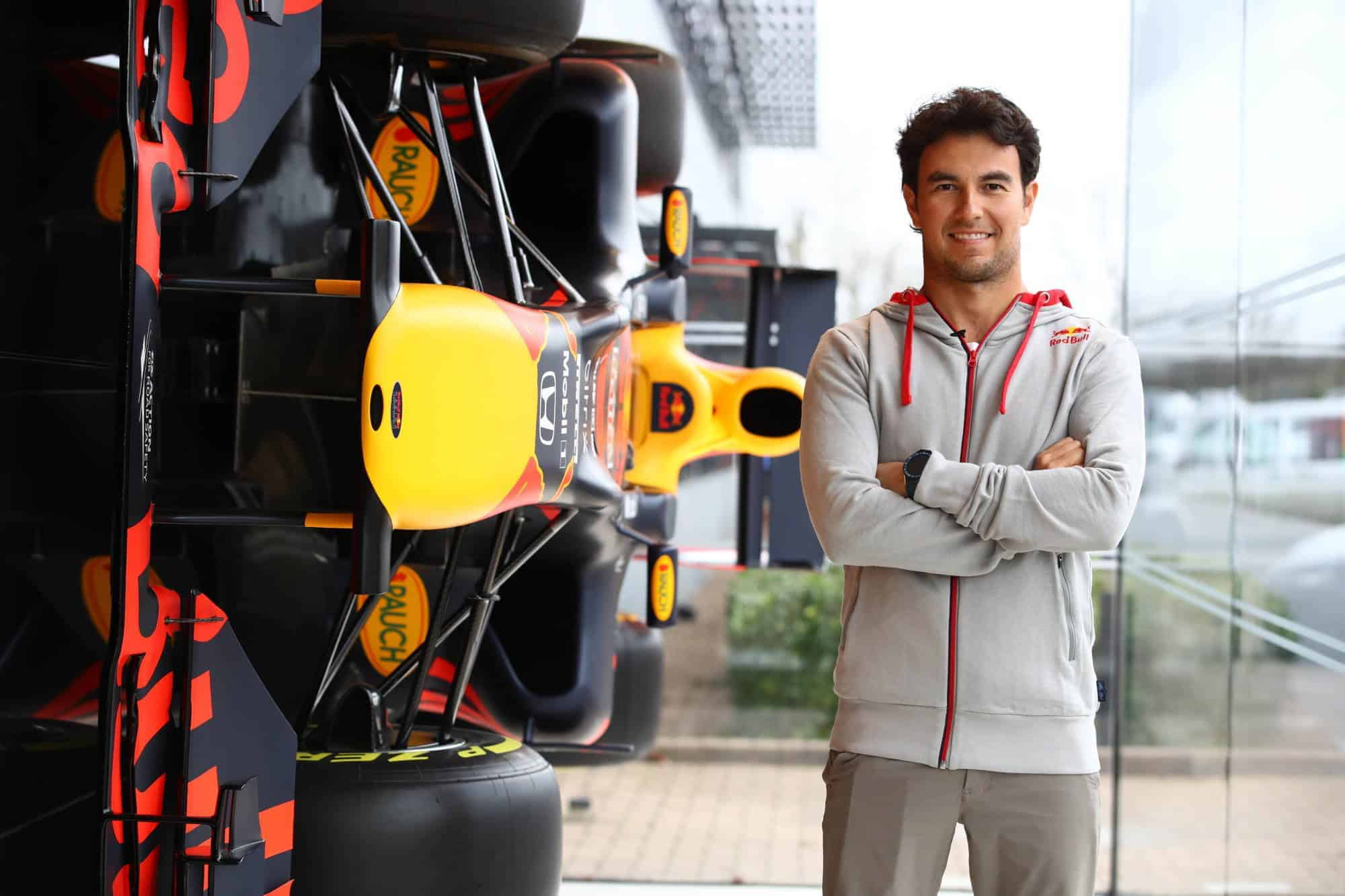 2021 Perez visits Red Bull factory Photo Red Bull