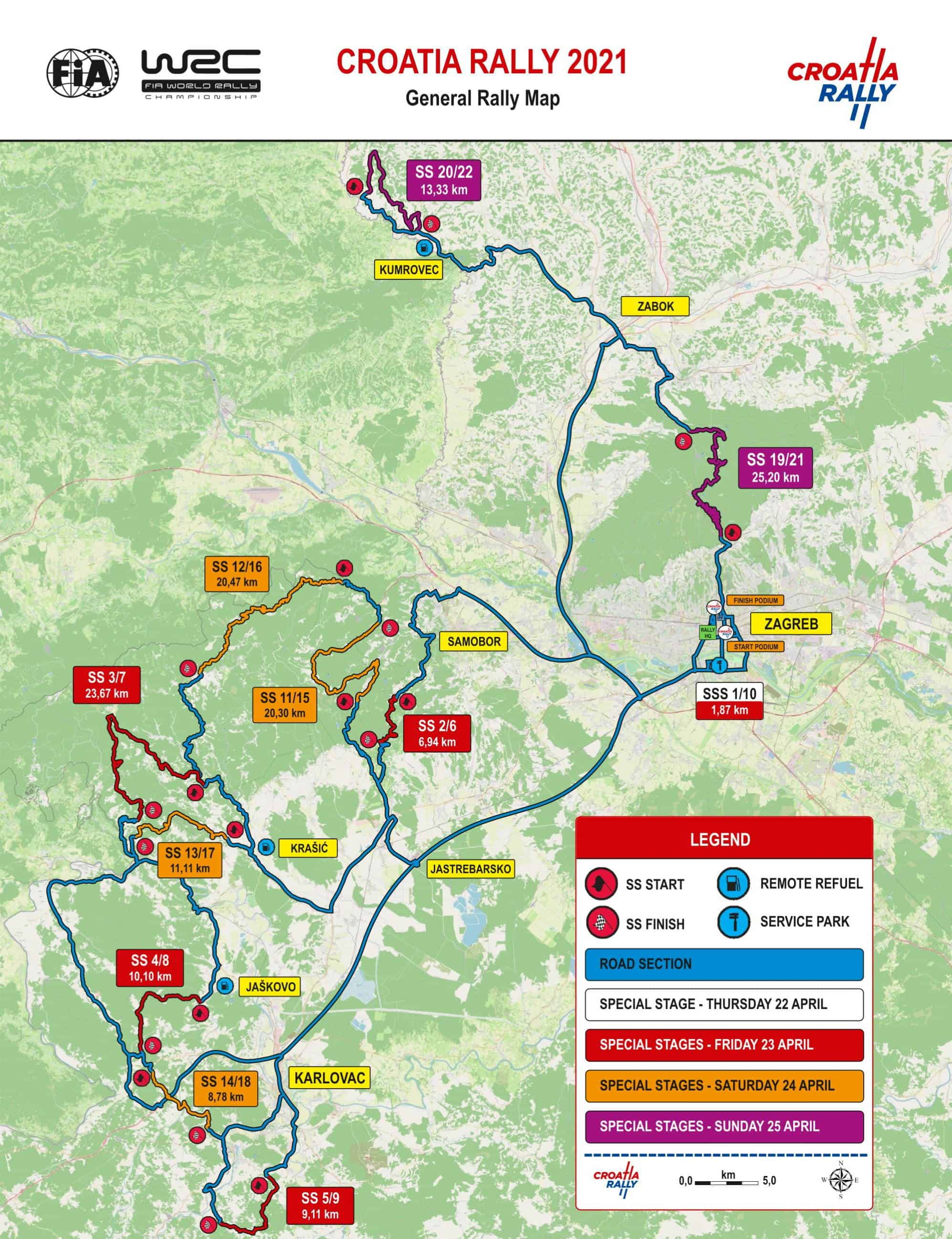 Croatia Rally 2021 - staze stages