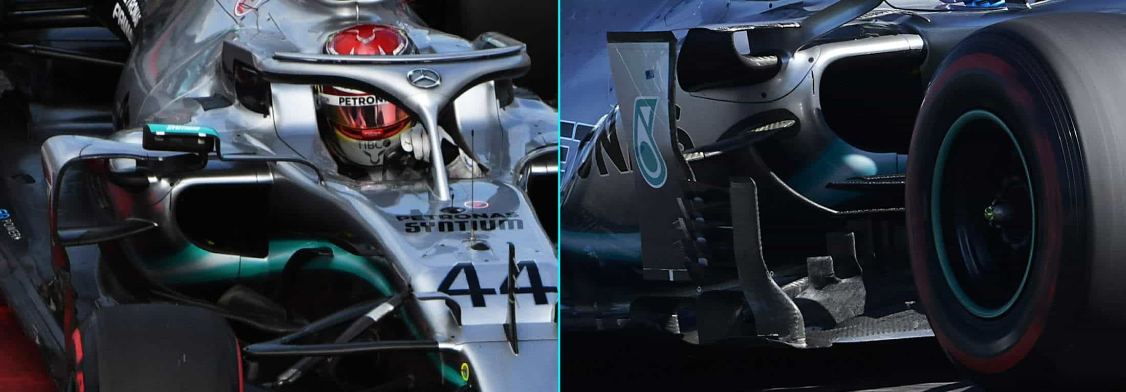2019 Mercedes F1 W10 Russian vs Japanese GP sidepod wings Photos Daimler EditedBy MAXF1net
