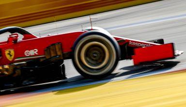 2020 Russian GP Ferrari SF1000 side view front end Photo Pirelli