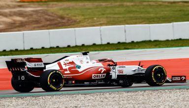 2021 Alfa Romeo C41 first laps shakedown Photo Alfa Romeo F1 Twitter