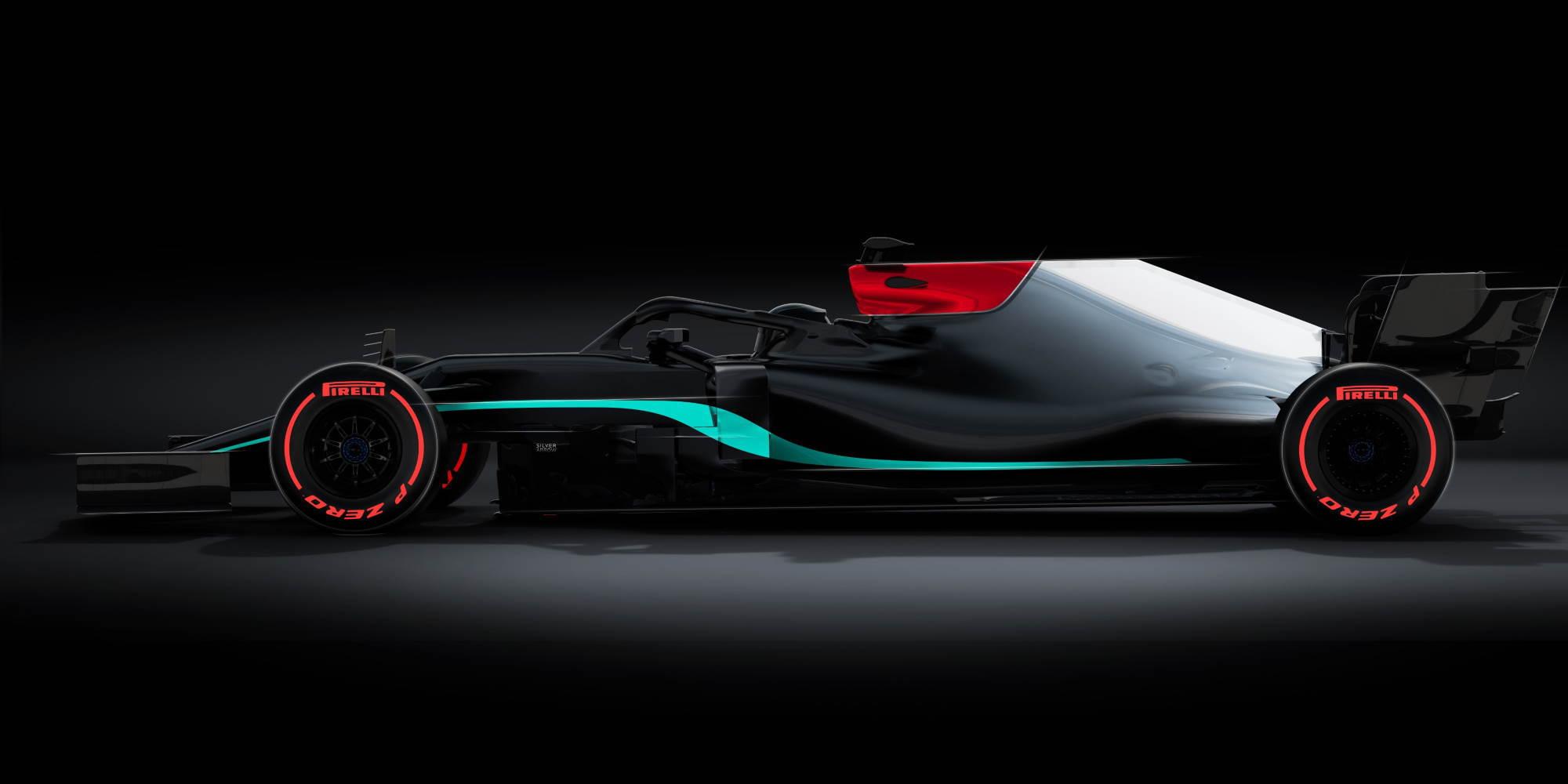 2021 Mercedes F1 W12 livery teaser Photo Mercedes AMG Petronas Twitter