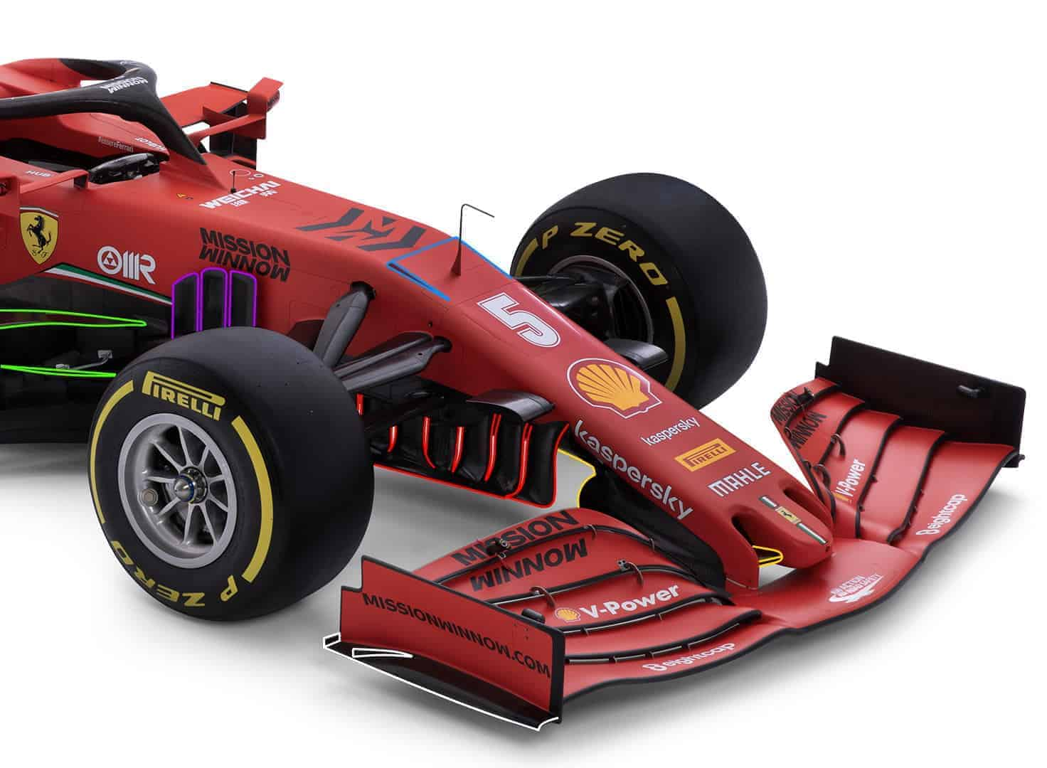 Ferrari F1 SF1000 2020 car studio photo front end Photo Ferrari Edited by MAXF1 net