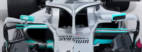 Mercedes-F1-W10-vs-W11 sidepod intakes comparison Photos Daimler EditedBy MAXF1net