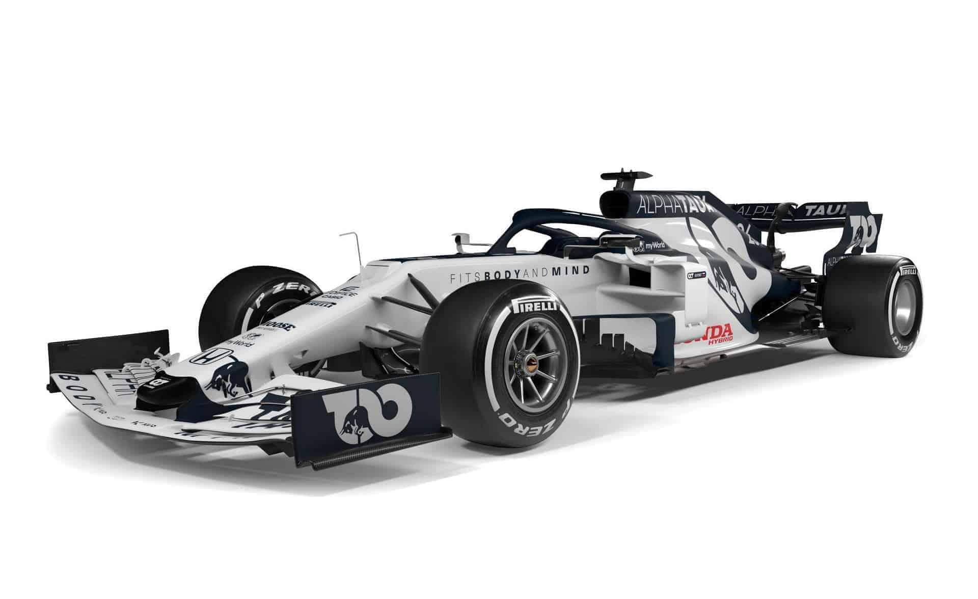 Scuderia AlphaTauri F1 2020 car AT01 side Photo Red Bull