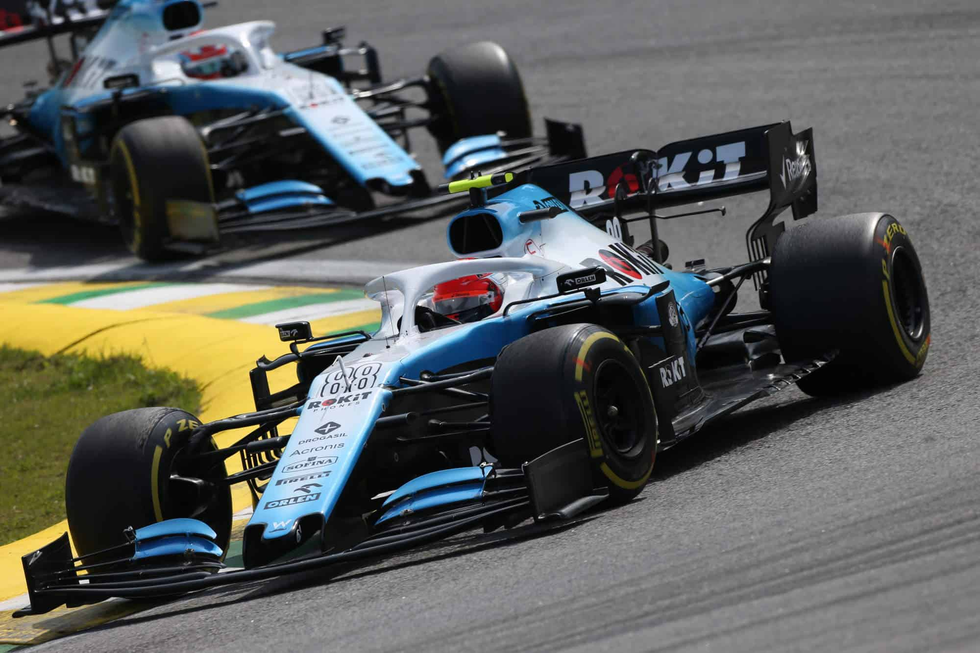 2019 Brazilian GP Kubica leads Russell Photo Williams