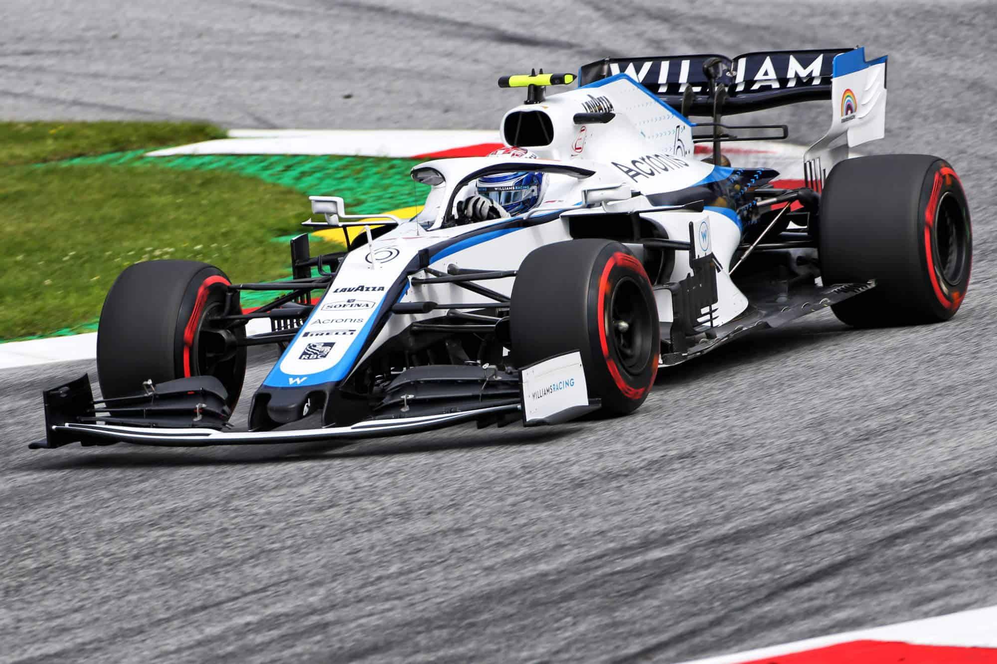 2020 Austrian GP Nicholas Latifi Williams FW43 Photo Williams