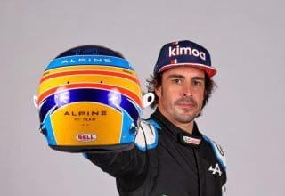 2021 Alonso Alpine studio photo racing suit helmet Photo Alpine