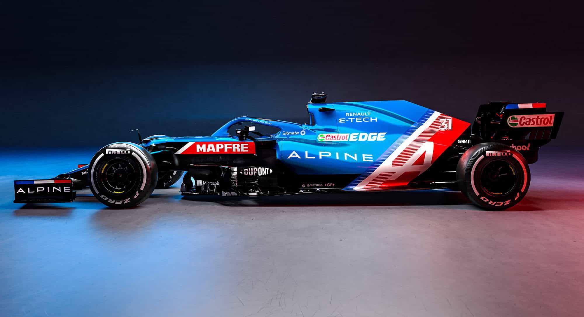 2021 Alpine F1 2021 car AT521 side Photo Alpine