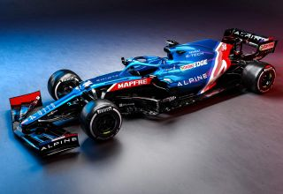 2021 Alpine F1 2021 car AT521 side front Photo Alpine