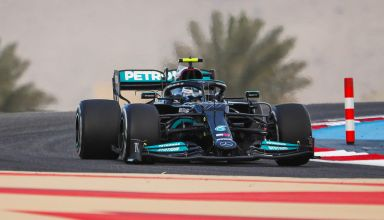 2021 Bahrain F1 Test Sunday Day 3 Bottas Mercedes F1 W12 C1 Pirelli tyre Photo Daimler