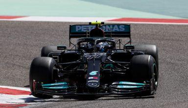2021 Bahrain F1 test Bottas Mercedes prototype C3 Pirelli Photo Daimler