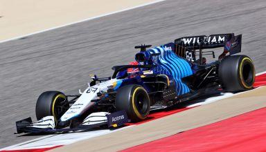 2021 Bahrain F1 test George Rusell Williams FE43B C3 Pirelli tyres Photo Williams
