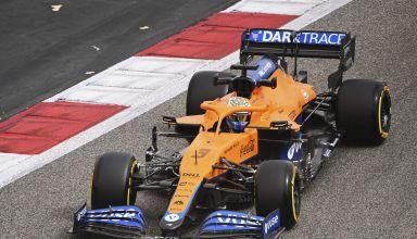 Daniel Ricciardo, McLaren MCL35M, enters a corner
