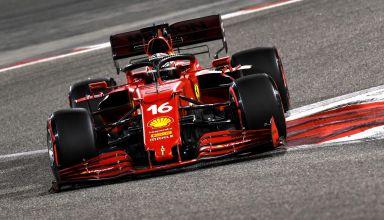 2021 Bahrain F1 testing Leclerc Ferrari C4 Pirelli Photo Ferrari