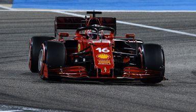 2021 Bahrain GP Leclerc Ferrari SF21 soft C4 Pirelli qualifying Photo Ferrari