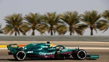2021 Bahrain GP Vettel Aston Martin AMR21 Photo Aston Martin