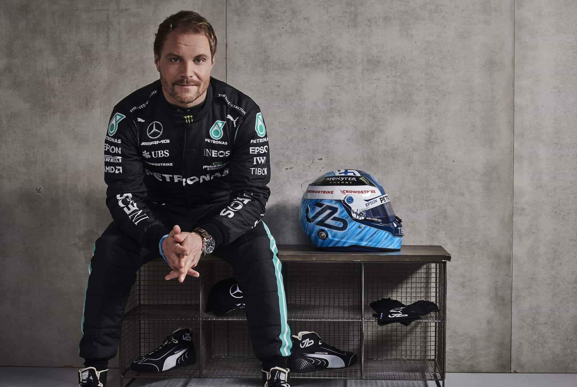 2021 Mercedes F1 W12 launch Bottas studio Photo Mercedes AMG Petronas Daimler