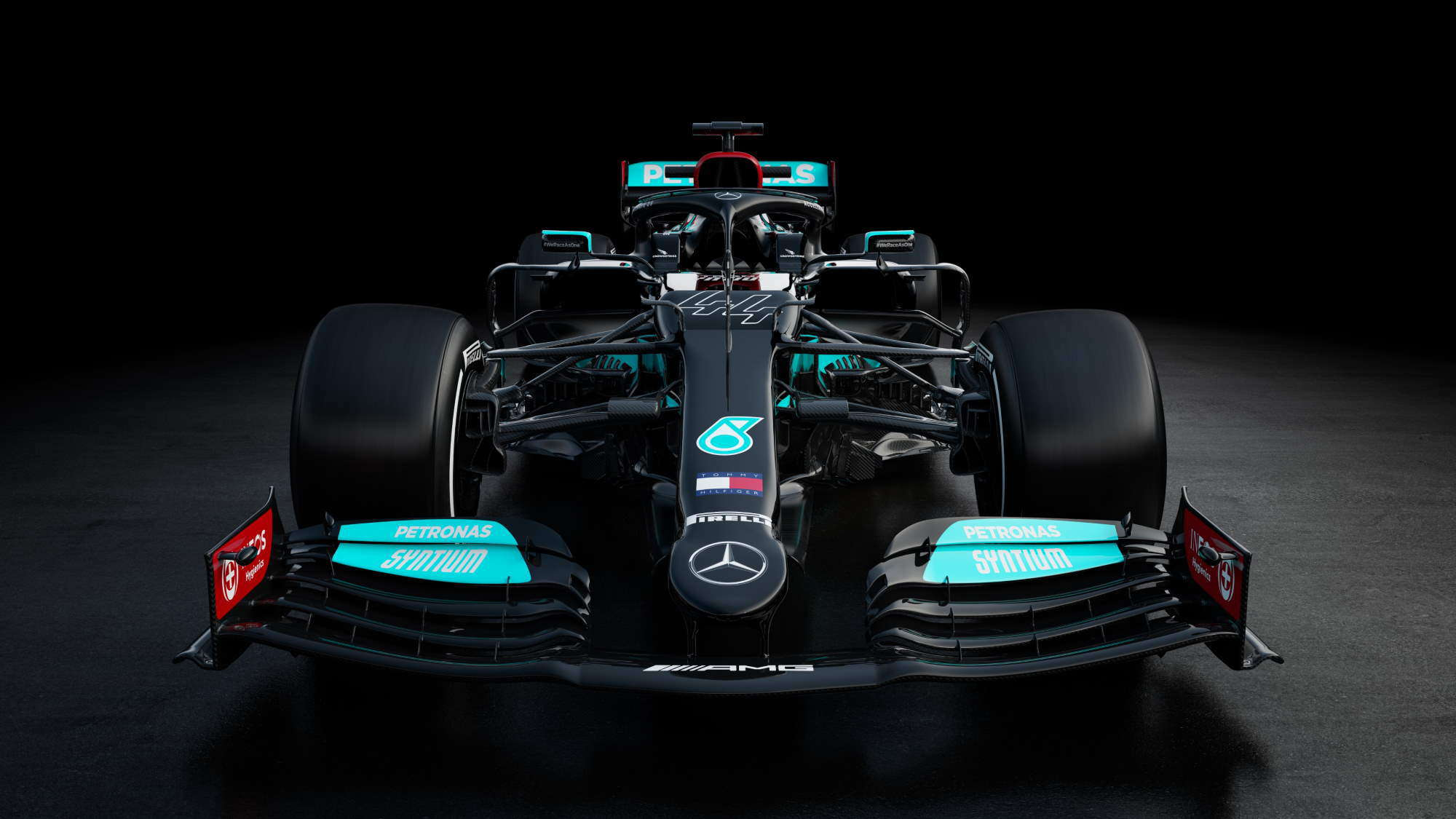 2021 Mercedes F1 W12 studio photo front Photo Mercedes AMG Petronas Twitter