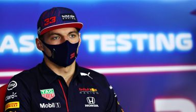2021 Verstappen Red Bull Bahrain F1 test Day 3 press conference Photo Red Bull